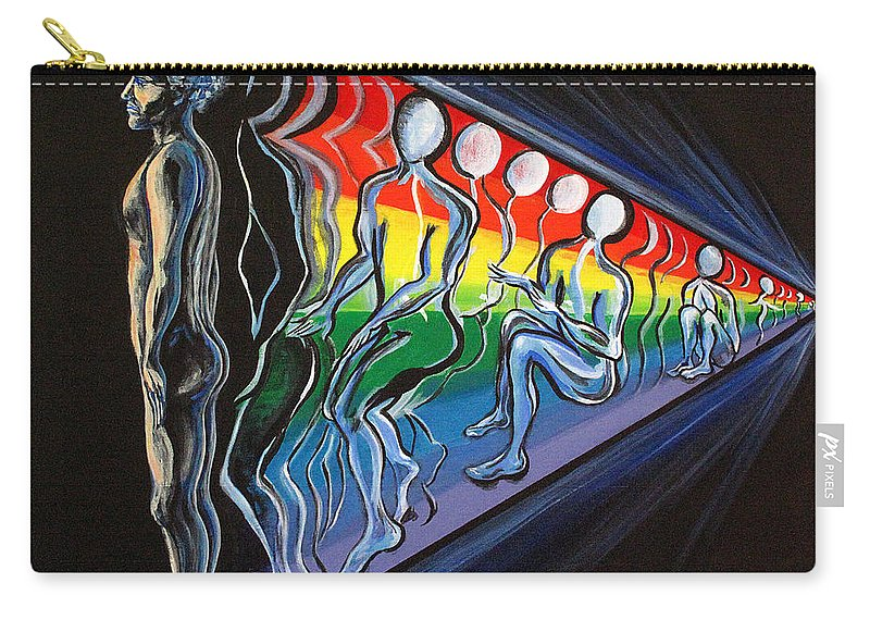 Spiritual Carry-all Pouch featuring the painting Projection by Joyce Jackson