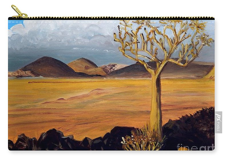 Desert Carry-all Pouch featuring the painting Promise Of Rain by Caroline Street