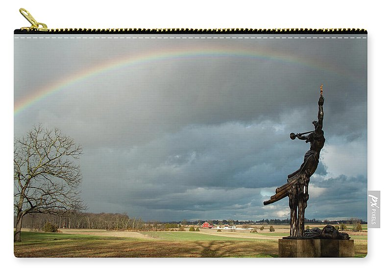 Louisiana State Monument Carry-all Pouch featuring the photograph Promise To Gettysburg by Kat Zalewski-Bednarek