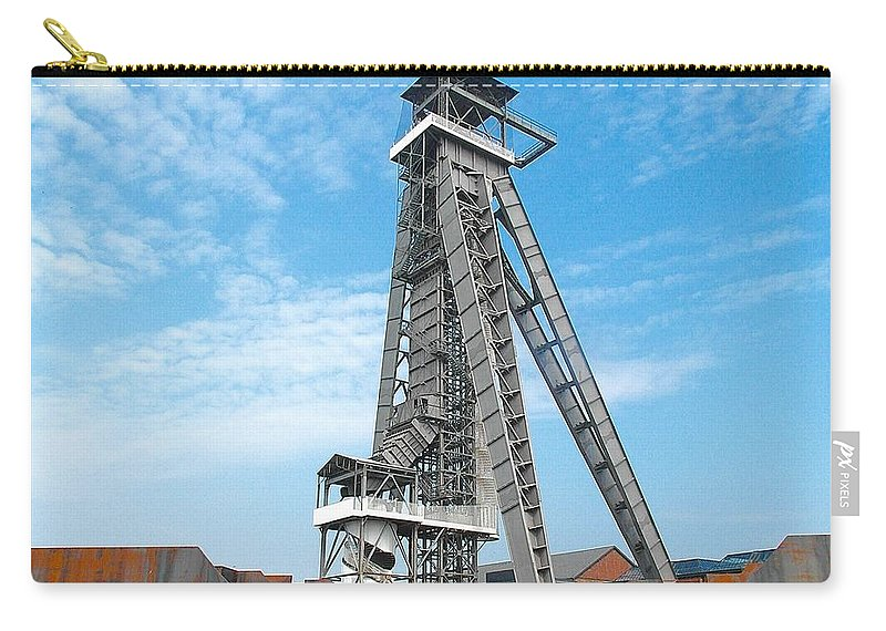 Belgium Carry-all Pouch featuring the photograph Mine Head Frame by Elisabeth Derichs