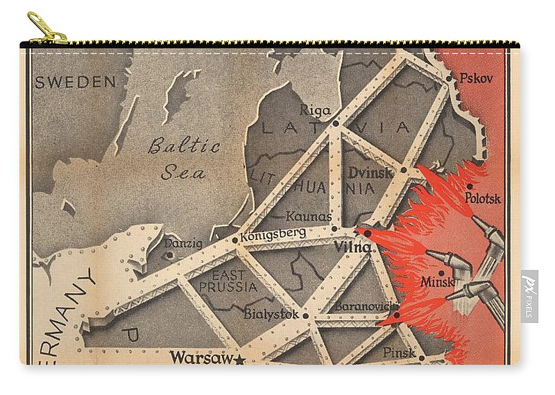 Map Of Germany During World War 2.Propaganda Map Of German Domination Baltic Region Prussia Poland World War 2 Time Magazine Carry All Pouch