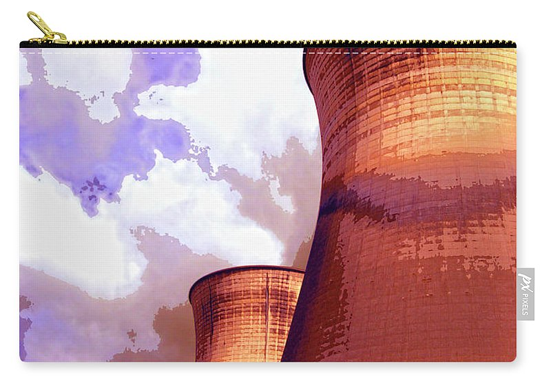 Nuclear Power Carry-all Pouch featuring the mixed media Prophecy by Dominic Piperata
