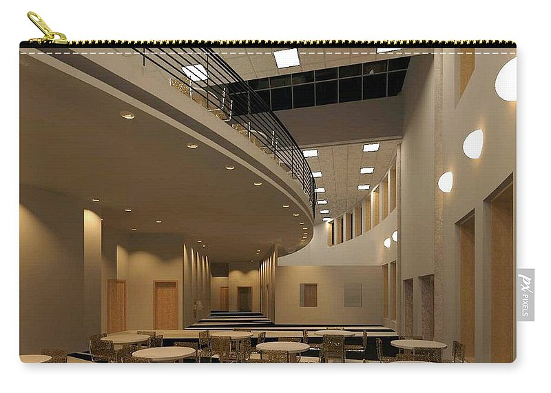 Lobby Rendering Carry-all Pouch featuring the digital art Proposed Performing Arts Lobby by Ron Bissett