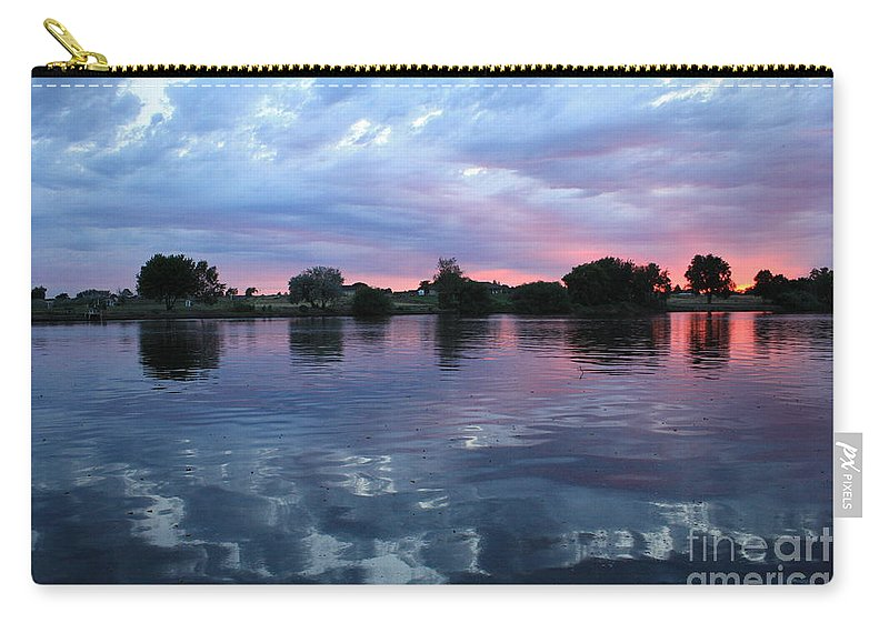 Sunset Carry-all Pouch featuring the photograph Prosser Pink Sunset 5 by Carol Groenen