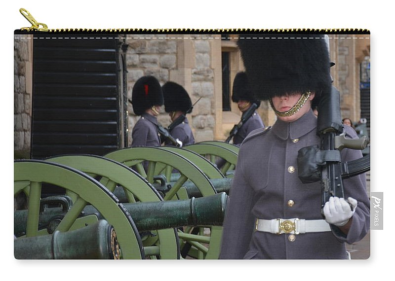 England Carry-all Pouch featuring the photograph Protecting The Tower Of London by Diane Berard