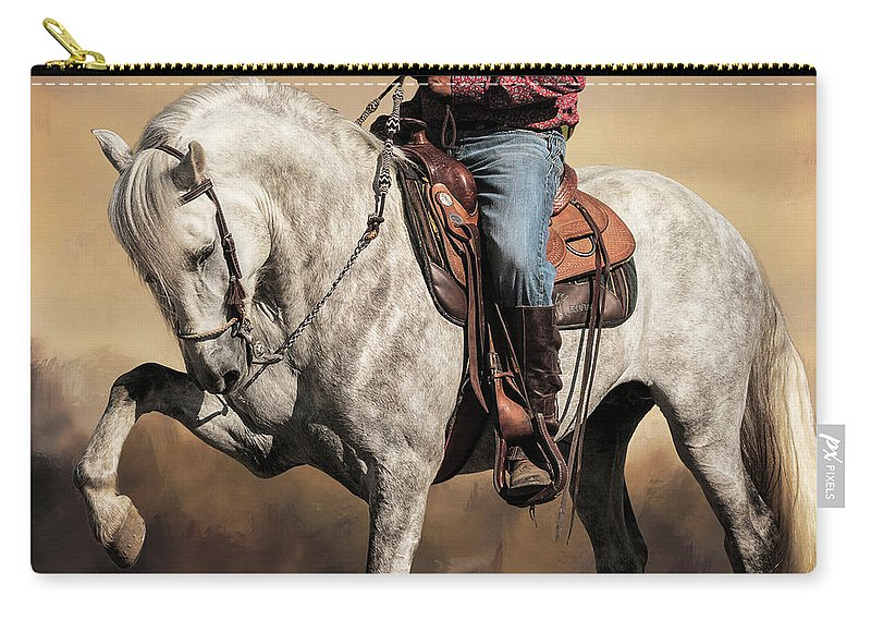 Proud And Powerful Carry-all Pouch featuring the photograph Proud And Powerful by Wes and Dotty Weber