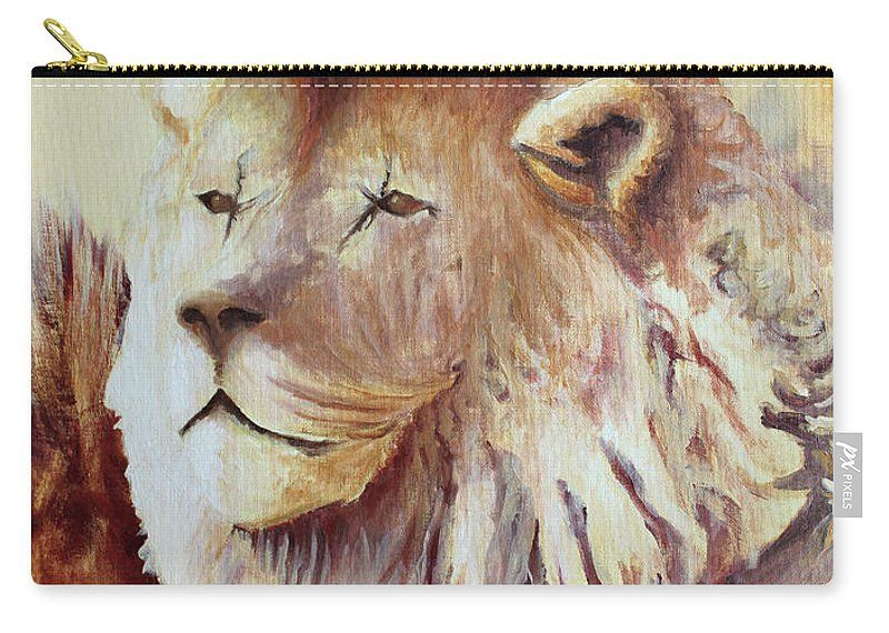 Animal Carry-all Pouch featuring the painting Proud by Todd Blanchard