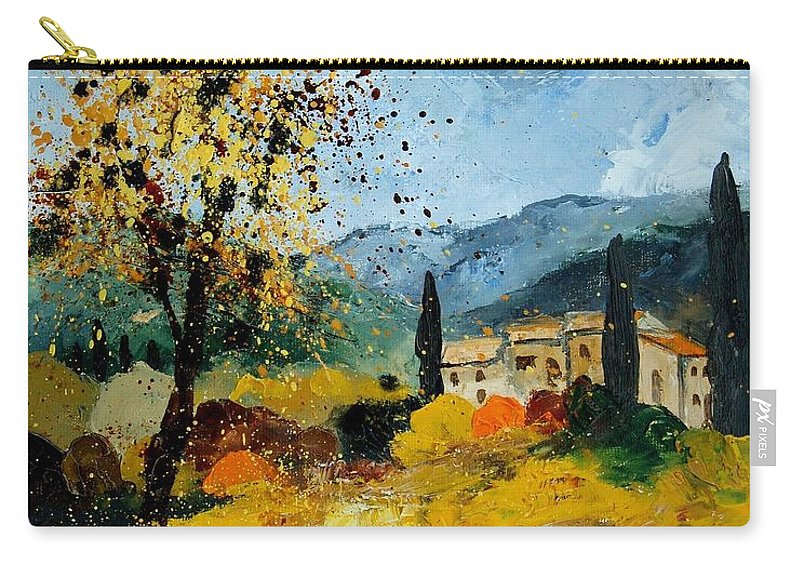 Provence Carry-all Pouch featuring the painting Provence 45 by Pol Ledent