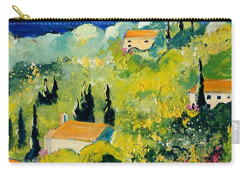 Village Carry-all Pouch featuring the painting Provence 459070 by Pol Ledent