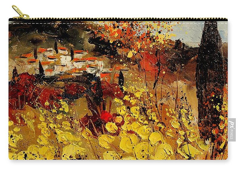 Provence Carry-all Pouch featuring the painting Provence 459080 by Pol Ledent