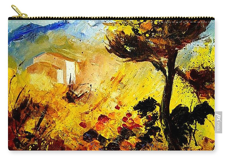Flowers Carry-all Pouch featuring the painting Provence 56 by Pol Ledent