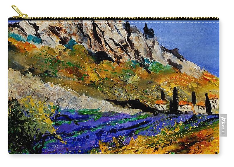 Flowers Carry-all Pouch featuring the painting Provence 560908 by Pol Ledent