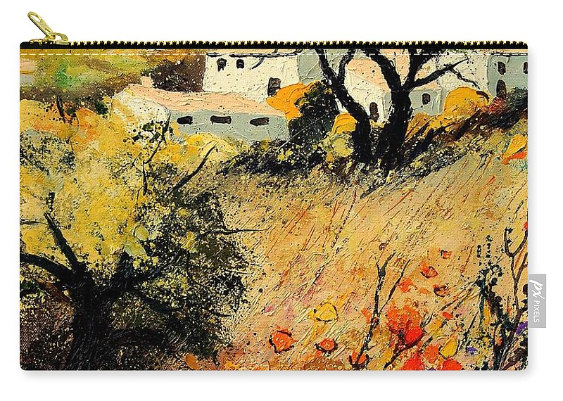 Provence Carry-all Pouch featuring the painting Provence 56123 by Pol Ledent