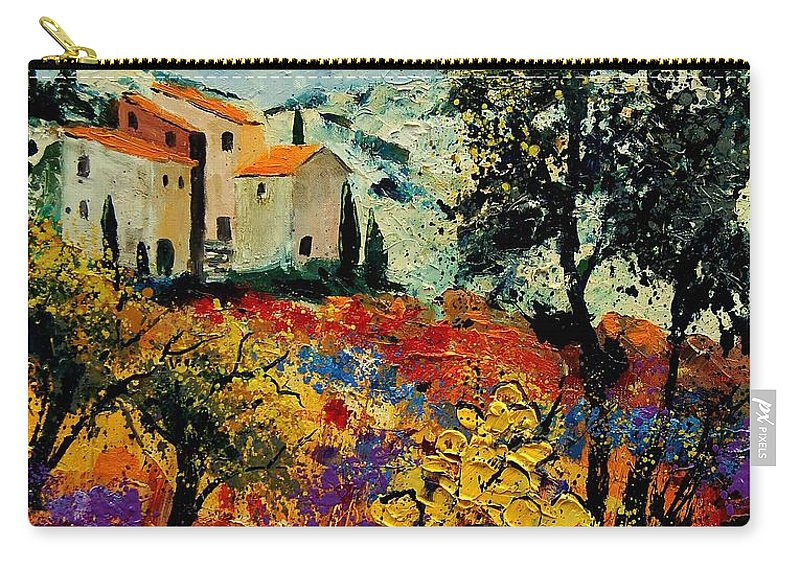 Provence Carry-all Pouch featuring the painting Provence 56900192 by Pol Ledent