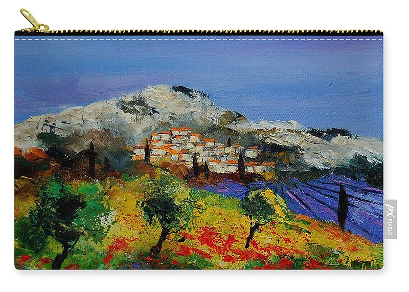 Provence Carry-all Pouch featuring the painting Provence 569010 by Pol Ledent