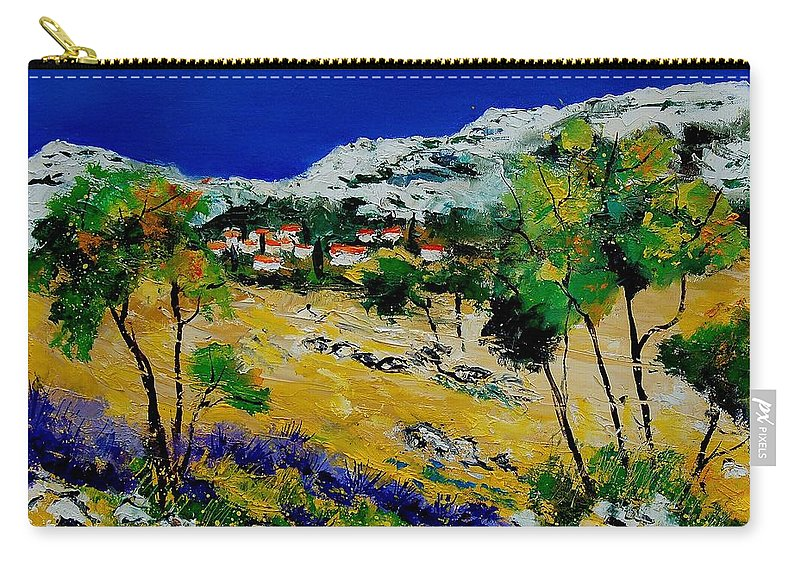 Provence Carry-all Pouch featuring the painting Provence 569060 by Pol Ledent