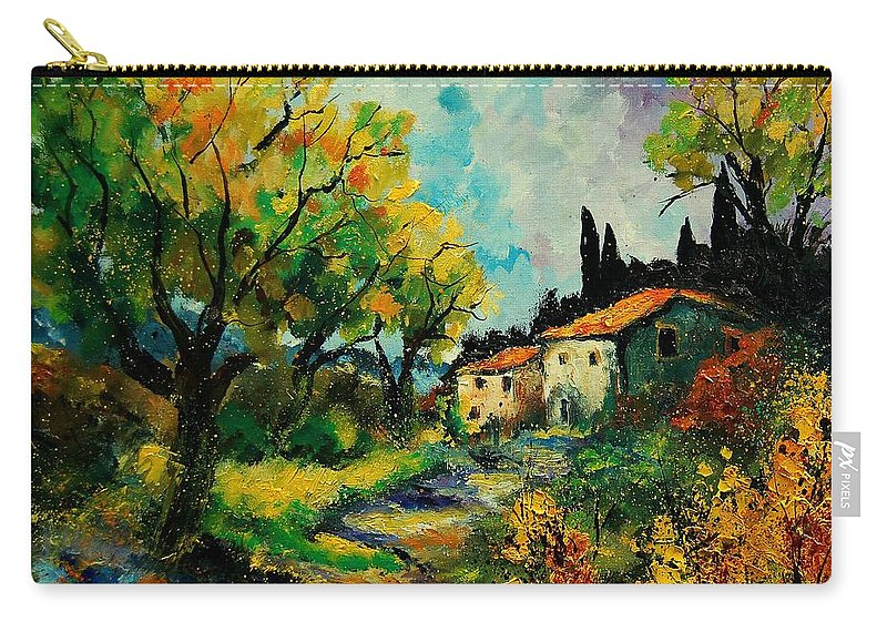 Landscape Carry-all Pouch featuring the painting Provence 670110 by Pol Ledent