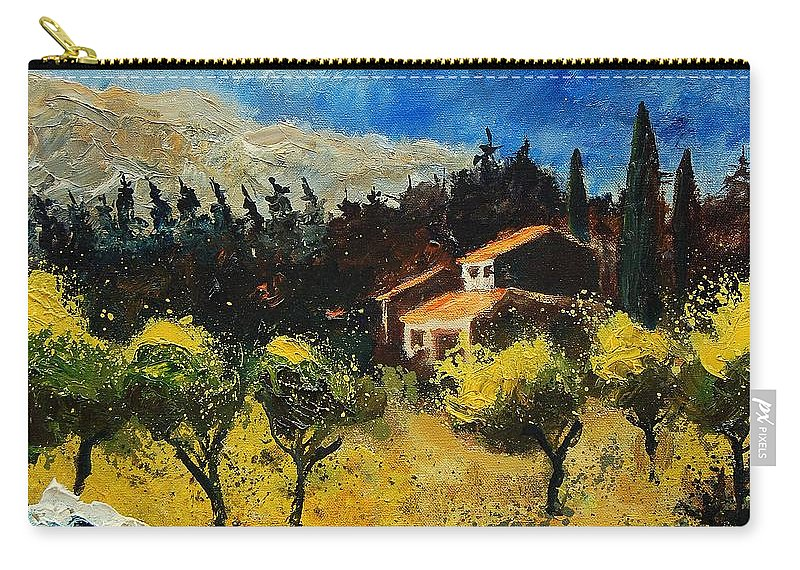Provence Carry-all Pouch featuring the painting Provence 678965 by Pol Ledent