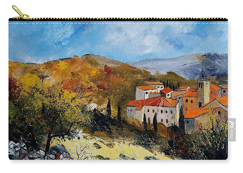 Provence Carry-all Pouch featuring the painting Provence 679050 by Pol Ledent