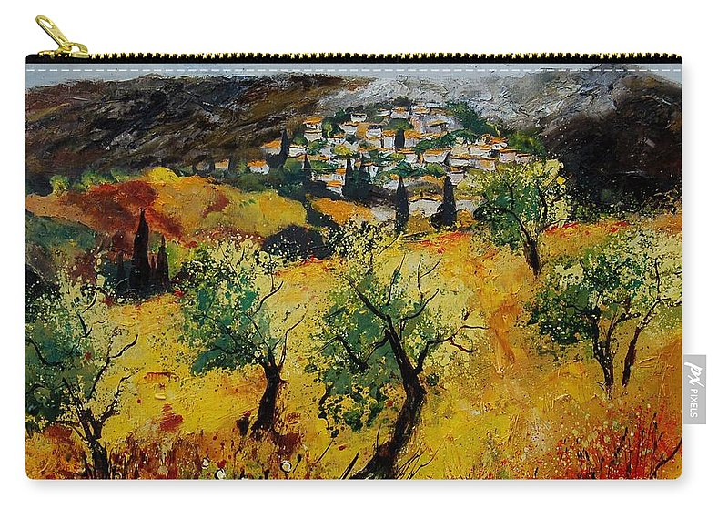 Provence Carry-all Pouch featuring the painting Provence 789080 by Pol Ledent