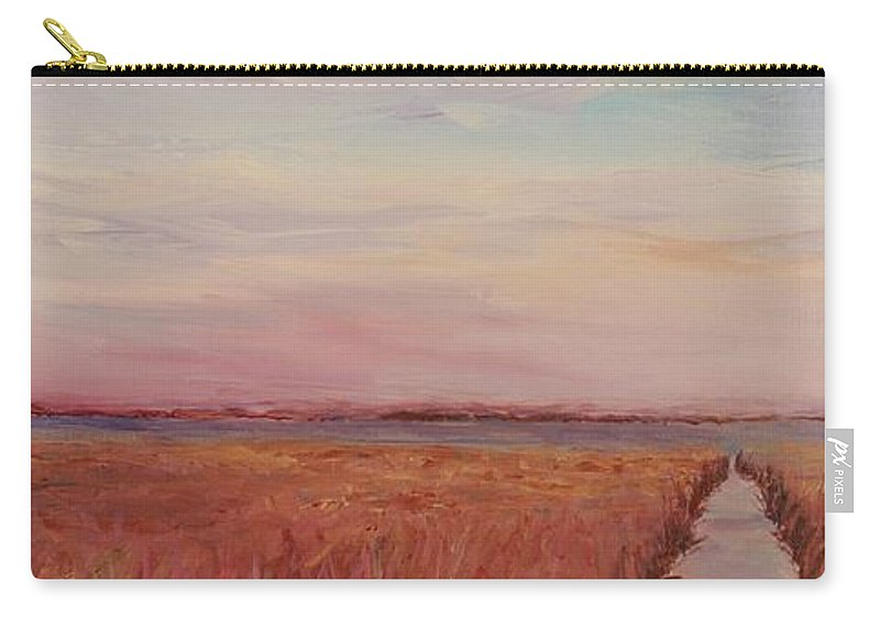 Landscape Carry-all Pouch featuring the painting Provence Camargue by Nadine Rippelmeyer