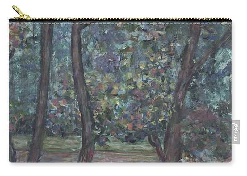 Landscape Carry-all Pouch featuring the painting Provence Flowers by Nadine Rippelmeyer