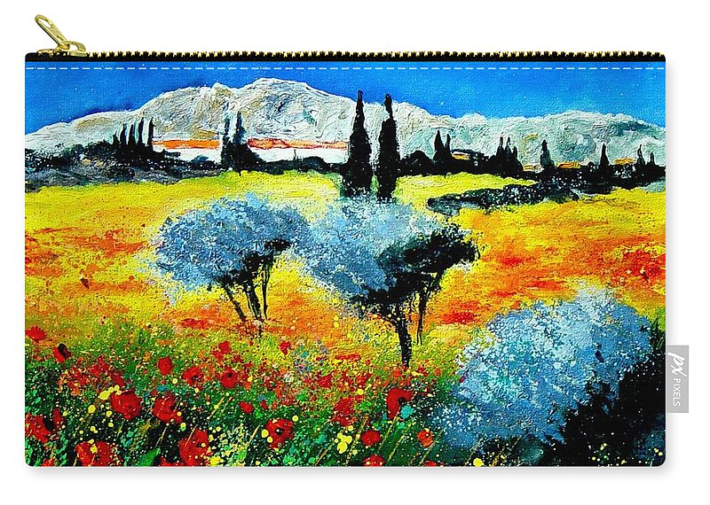 Poppies Carry-all Pouch featuring the painting Provence by Pol Ledent