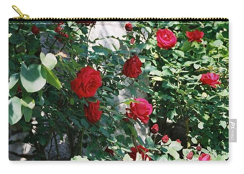 Floral Carry-all Pouch featuring the photograph Provence Red Roses by Nadine Rippelmeyer