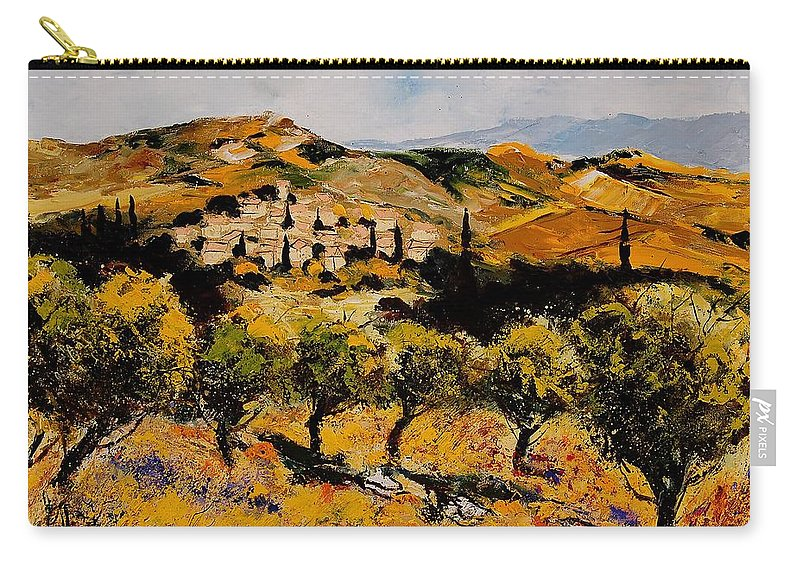 Provence Carry-all Pouch featuring the painting Provence10080 by Pol Ledent