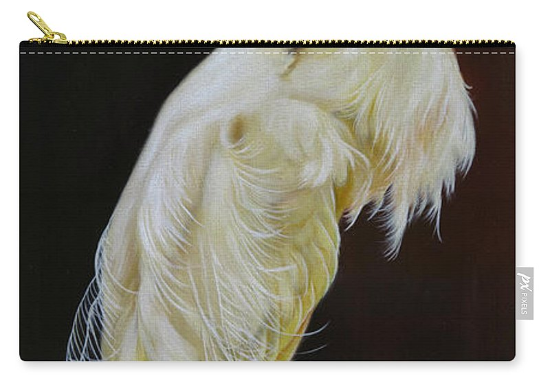 Bird Carry-all Pouch featuring the painting Prudence by Phyllis Beiser