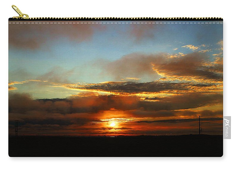 Sunset Carry-all Pouch featuring the photograph Prudhoe Bay Sunset by Anthony Jones