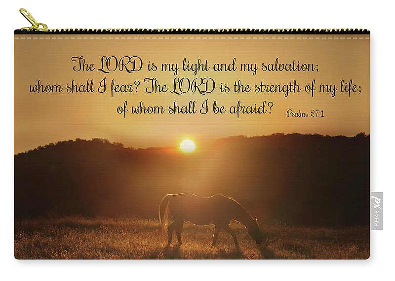 Psalms The Lord Is My Light Horse In The Sunrise Bible Spiritual