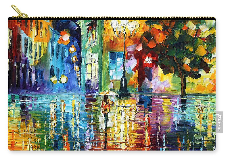 City Carry-all Pouch featuring the painting Psychedelic City by Leonid Afremov