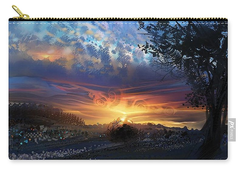 Psychedelic Carry-all Pouch featuring the digital art Psychedelic by Maye Loeser