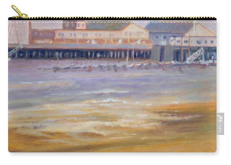 Ptown Carry-all Pouch featuring the painting Ptown Fisherman's Wharf by Phyllis Tarlow