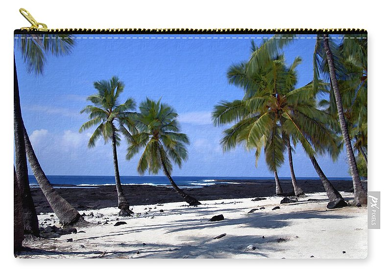 Hawaii Carry-all Pouch featuring the photograph Pu Uhonua O Honaunau by Kurt Van Wagner