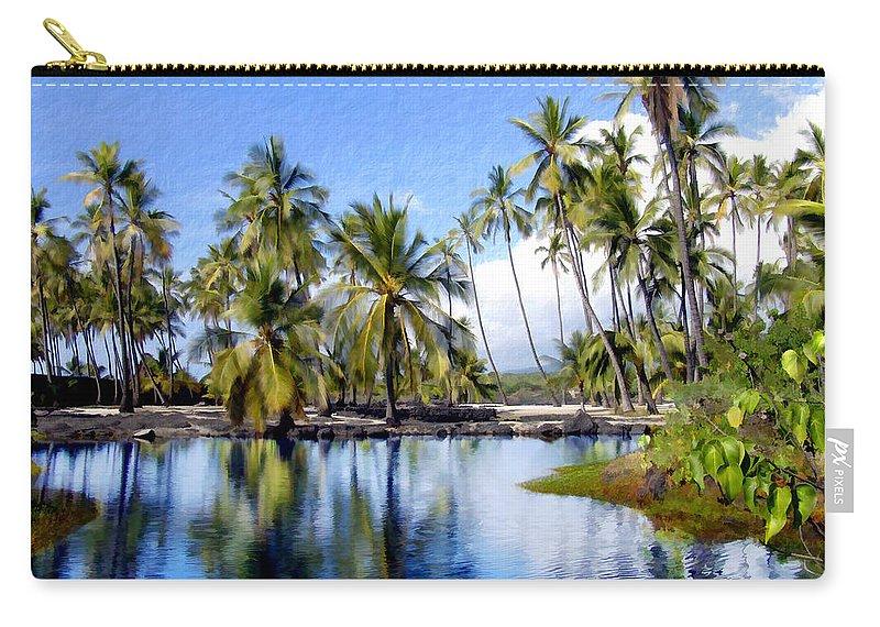 Hawaii Carry-all Pouch featuring the photograph Pu Uhonua O Honaunau Pond by Kurt Van Wagner
