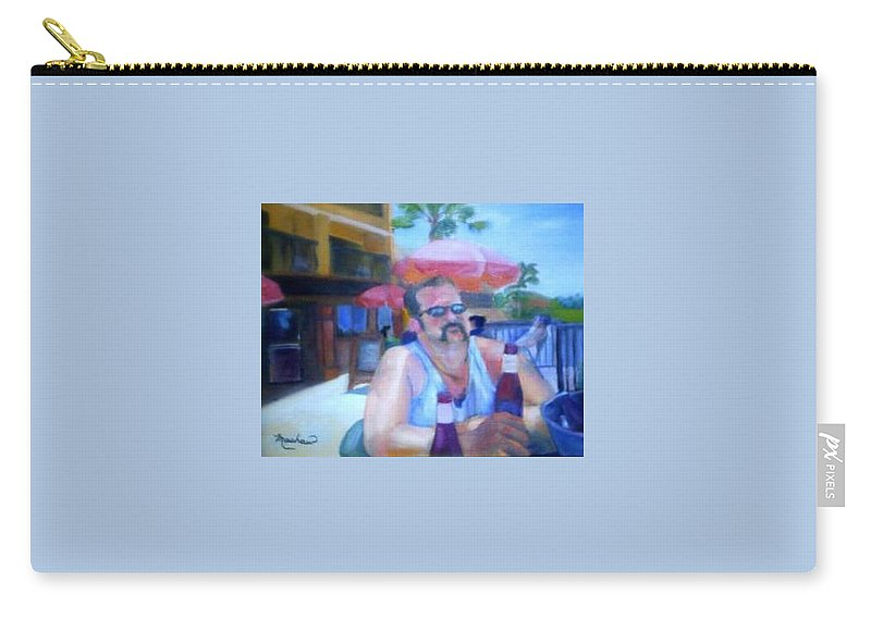 Daytona Carry-all Pouch featuring the painting Pub by Sheila Mashaw