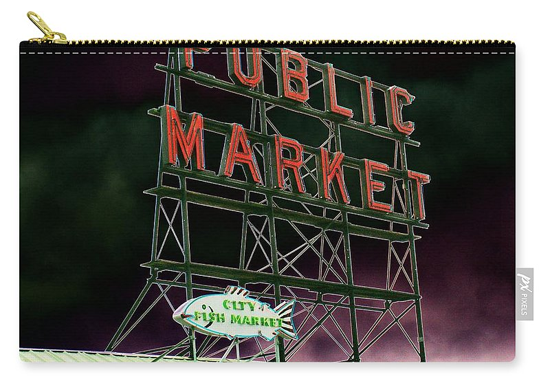 Seattle Carry-all Pouch featuring the photograph Public Market by Tim Allen