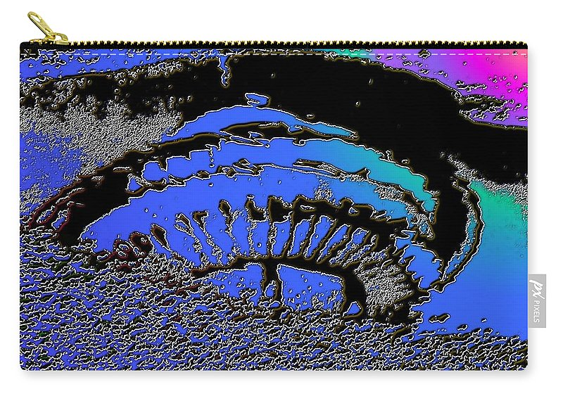 Seattle Carry-all Pouch featuring the digital art Puddle Needle 2 by Tim Allen