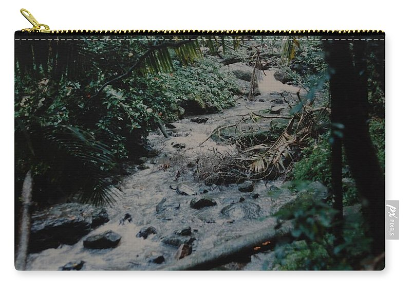 Trees Carry-all Pouch featuring the photograph Puerto Rico Water by Rob Hans