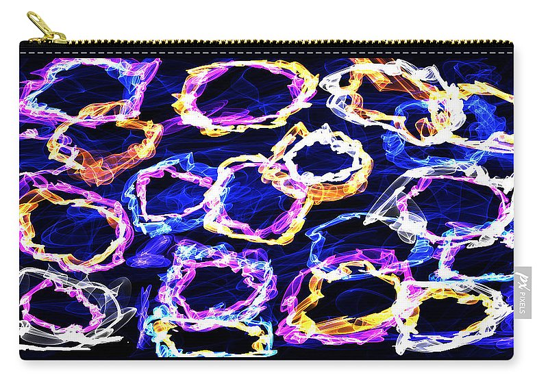 Rings Carry-all Pouch featuring the digital art Puff by Shirlena Rudder