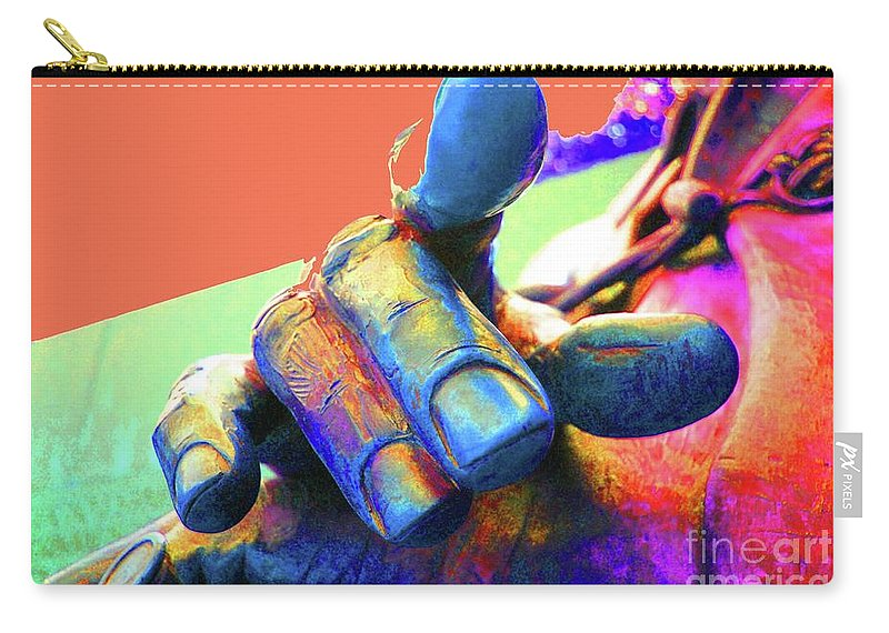 Finger Carry-all Pouch featuring the photograph Pull My Finger by Jost Houk