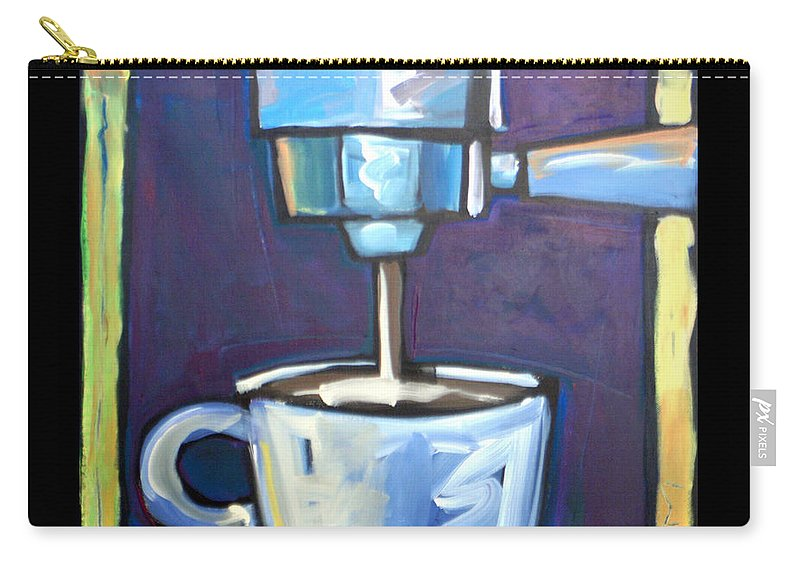 Coffee Carry-all Pouch featuring the painting Pulling A Shot by Tim Nyberg