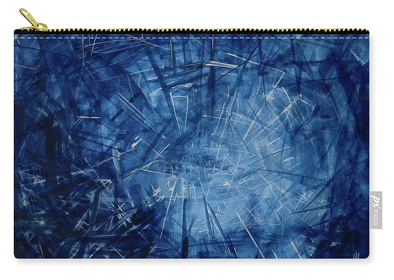 Pulse Carry-all Pouch featuring the painting Pulsing by Jelena Ignjatovic