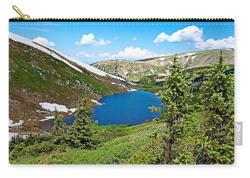 Pumphouse Lake Carry-all Pouch featuring the photograph Pumphouse Lake I by Robert Meyers-Lussier