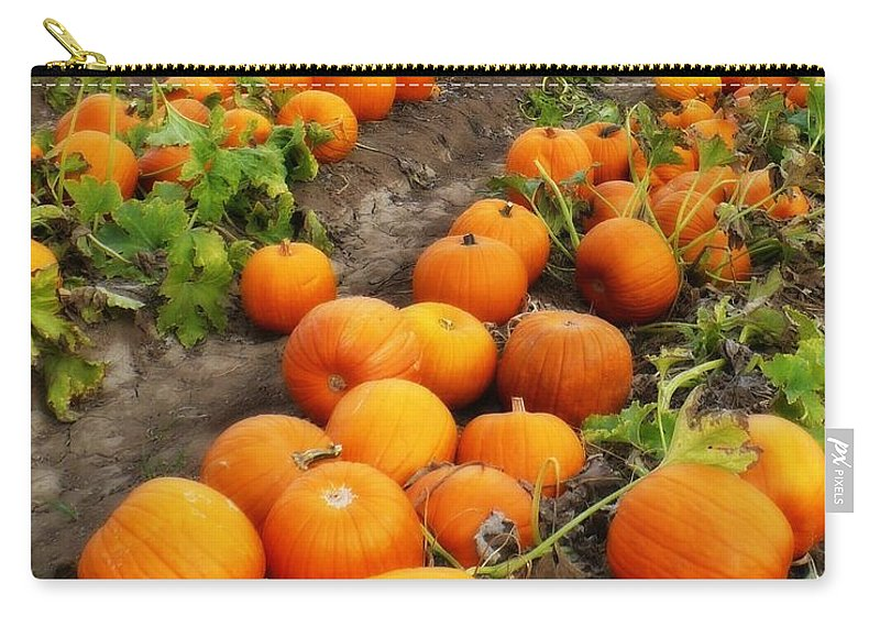 Pumpkin Patch Carry-all Pouch featuring the photograph Pumpkin Patch by Carol Groenen