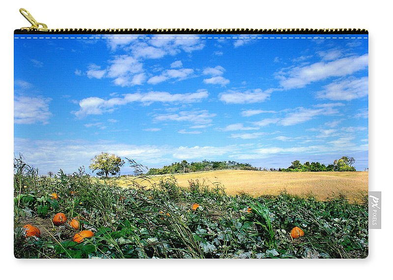 Landscape Carry-all Pouch featuring the photograph Pumpkin Patch by Steve Karol