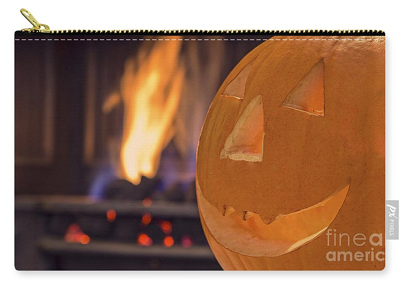 Halloween Carry-all Pouch featuring the photograph Pumpkin by Sebastien Coell