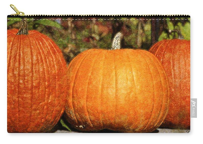 Pumpkins Carry-all Pouch featuring the photograph Pumpkins by Teresa Mucha